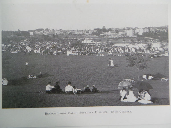 1901 Southern BRANCH BROOK PARK Band Concert Photo Essex County New Jersey