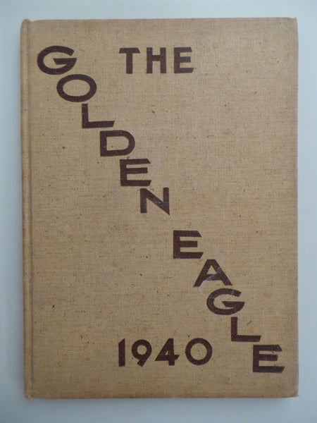1940 El Segundo High School California Original YEARBOOK Annual Golden Eagle