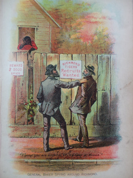 1890 SECRET SERVICE Richmond Spying aka Sam Munson LaFayette Baker CIVIL WAR