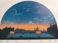 1923 JULY STARS Constellations Astronomy Cityscape Westminster Bridge London