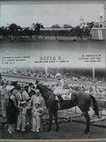 Vintage 1957 PETER K. Winner's Circle Horse Racing ARLINGTON PARK Photograph
