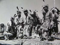 Vintage SIOUX War Dance INTER-TRIBAL INDIAN CEREMONIAL Gallup Santa Fe Railroad