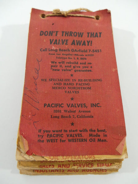 Vintage PACIFIC VALVES INC Long Beach California Western OIL OPERATORS Drilling