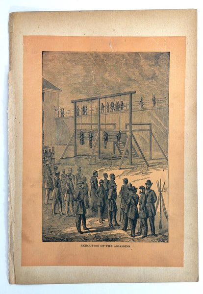 1890 SECRET SERVICE Civil War EXECUTION Of Lincoln's ASSASINS Engraving Print