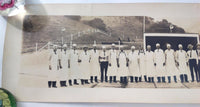 Vintage SHELL OIL COMPANY Employees Lake Elsinore BARBEQUE PANORAMA Photograph