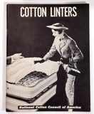 Vintage 1960 COTTON LINTERS David Hull National Cotton Council Felting Chemical
