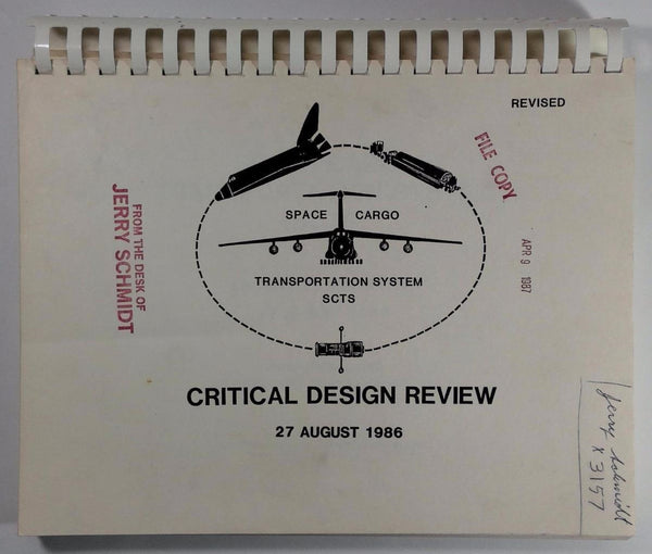1986 Rare SPACE SHUTTLE ORBITER Critical Design Review LOCKHEED MISSILES SPACE