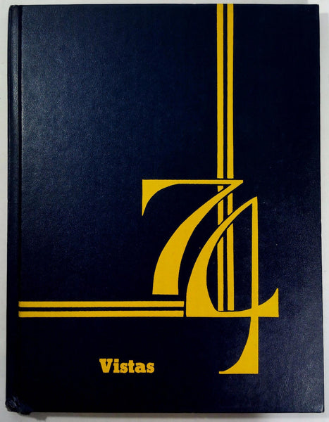 1974 Alamitos Junior High School Garden Grove California Yearbook Annual Vistas