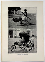 1912 Rickla Ox Cart And Push Conveyance Madras India Photogravure Photograph