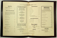 Vintage Dinner Menu THE FAMILY FISH HOUSE Restaurant Hampton Virginia
