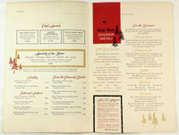 1960's Original HUGE Vintage Menu KINGS WOOD HOTEL RESTAURANT Austin Minnesota