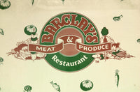 Vintage Full Size Menu BARCLAY'S MEAT & PRODUCE Restaurant South Bend Indiana