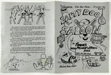 1992 Vtg Menu SALTY DOG SALOON Restaurant Steele City NE Midwest Watering Hole