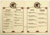 1982 Vintage Large Menu & Wine List DADDY'S MONEY Restaurant Clearwater Florida
