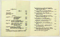 1980's Vtg Menu FRATELLO'S Italian Restaurant Hilton Head Island South Carolina