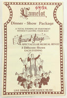1982 Vintage Menu CAMELOT RESTAURANT Dinner Show Dancing South Yarmouth Cape Cod