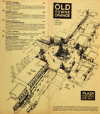 1982 OLD TOWNE ORANGE  CA Walk Through History Brochure Map Tour HISTORIC PLAZA