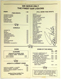1970's Vintage Menu COUNTRY DINNER PLAYHOUSE Colorado Signed By Stan Kenton Jazz