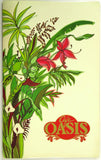 1984 Original Large Laminated Vintage Menu ANAHEIM HILTON CAFE OASIS Restaurant