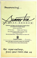 1984 Large Laminated Vintage Menu EMERALD OF ANAHEIM - SUMMER TREE Restaurant Ca
