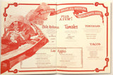 1981 Vintage Menu WHO SONG AND LARRY'S CANTINA El Torito Restaurant Orange CA