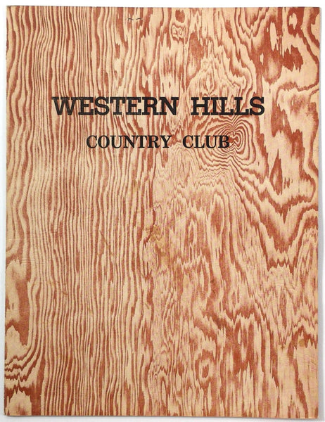 1950s Vintage Menu WESTERN HILLS COUNTRY CLUB Golf Chino Hills California
