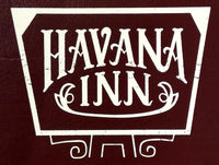 1960's Vintage Full Size Tall Menu HAVANA INN Restaurant Mystery Location