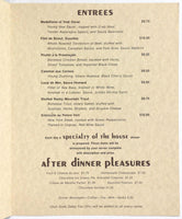 1970's Menu SNOWBIRD SKI & SUMMER RESORT - GOLDEN CLIFF Restaurant Snowbird UT