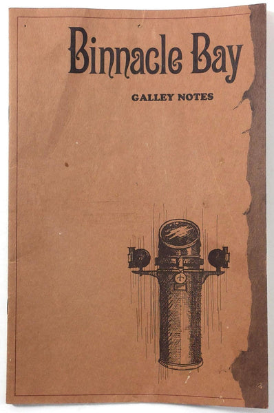1960's Vintage Galley Notes Menu BINNACLE BAY Restaurant Underground Atalanta GA