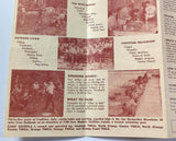1959 Brochure CAMP OSCEOLA San Bernardino Mountains California YMCA High Sierra