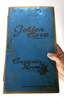 1970's Vintage Menu GOLDEN COVE Restauraunt Captain's Room NESKOWIN LODGE Oregon