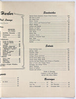 1950's Menu HOTEL HARBOR COFFEE SHOP & LOUNGE Steamboat Springs CO Gilpin Lake