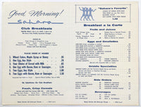 1960's Original Unfolded Vintage Menu Lot (3) SAHARA RESTAURANT Cleveland Ohio