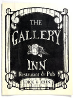 1980's Original Vintage Menu THE GALLERY INN Restaurant Pub Studio City CA