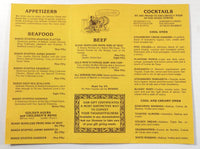 1980's Vintage Take-Out Menu GOLD MINE RESTAURANT Easthampton MA Don Watroba