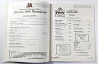 1981 Vintage Dining MENUS Shopping MAMMOTH LAKES GUIDE June & Crowley Lake CA