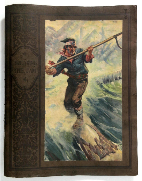 c1930 BREAKING THE JAM Braun Lumber Company Logging OLIVER KEMP Forestry Art