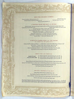 1957 Original HUGE Menu THE FORUM Of The TWELVE CAESARS Restaurant New York City