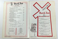 1976 THE DUTCH INN Original Room Service DIRECTORY & MENU Lake Buena Vista FL
