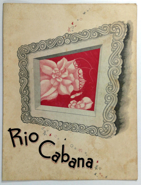 1940's Original WWII War Era Ration Menu RIO CABANA Restaurant ? New York ?