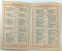 1940's Original Menu REPUBLIC CHINESE AMERICAN RESTAURANT New York Kung Wo Low