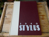 1940 Original Yearbook GLENDALE HIGH SCHOOL CA Stylus