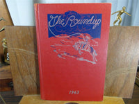 1943 Theodore Roosevelt High School Des Moines Iowa Yearbook Annual The Roundup