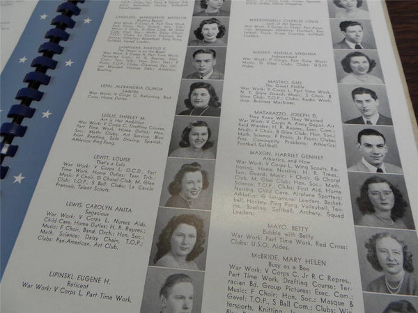 1944 NOTT TERRACE HIGH SCHOOL Schenectady New York YEARBOOK Annual The Terracian
