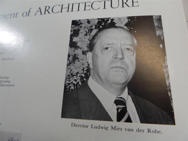 1950 Ludwig Mies Van Der Rohe Illinois Institute Of Technology YEARBOOK Integral