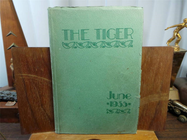 1935 June LEWIS & CLARK HIGH SCHOOL Spokane Washington Original YEARBOOK Tiger