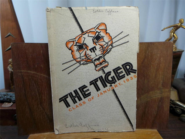 1935 Jan. LEWIS & CLARK HIGH SCHOOL Spokane Washington Original YEARBOOK Tiger