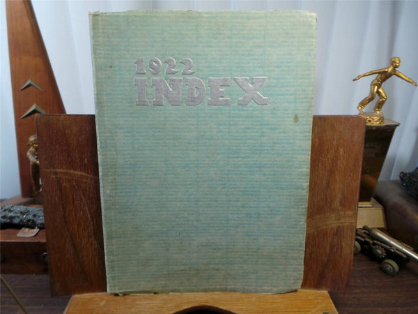 1922 OSHKOSH HIGH SCHOOL Wisconsin Original YEARBOOK Annual The Index