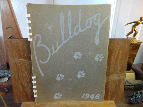 1946 ALGONA HIGH SCHOOL Iowa Original YEARBOOK Annual Bulldog