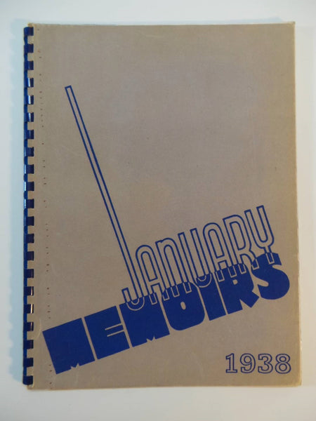 Jan. 1938 ULYSSES S. GRANT HIGH SCHOOL Portland Oregon Original YEARBOOK Memoirs